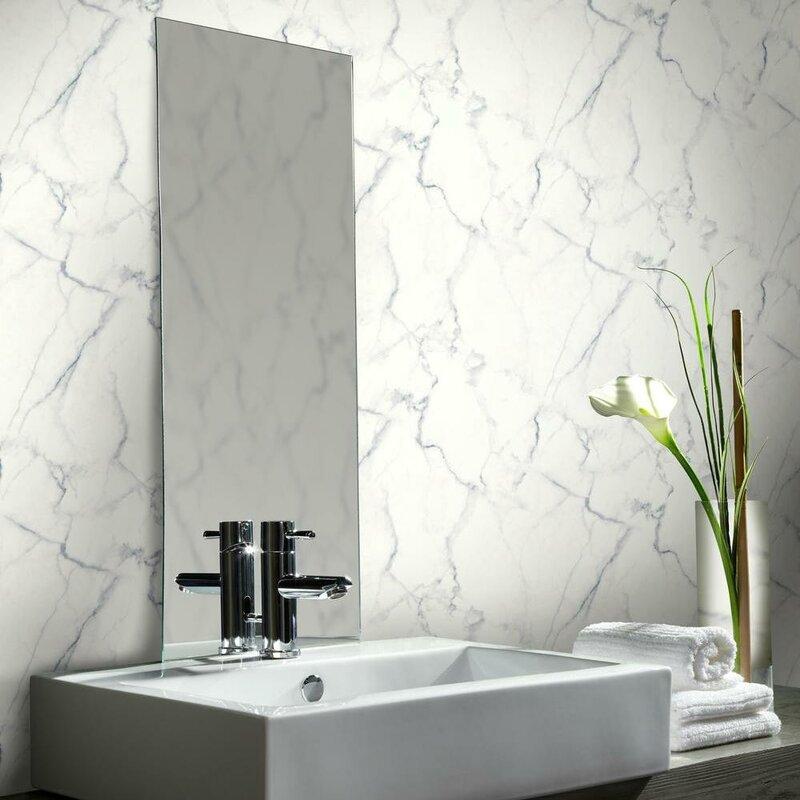Mercer41 Martina Carrara Marble 16 5 L X 20 5 W Abstract Peel And Stick Wallpaper Roll Reviews Wayfair