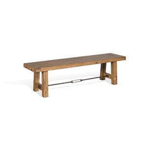 Joliette Dry Leaf Wood Bench by Loon Peak