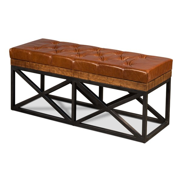 Mixon Leather Bench by 17 Stories