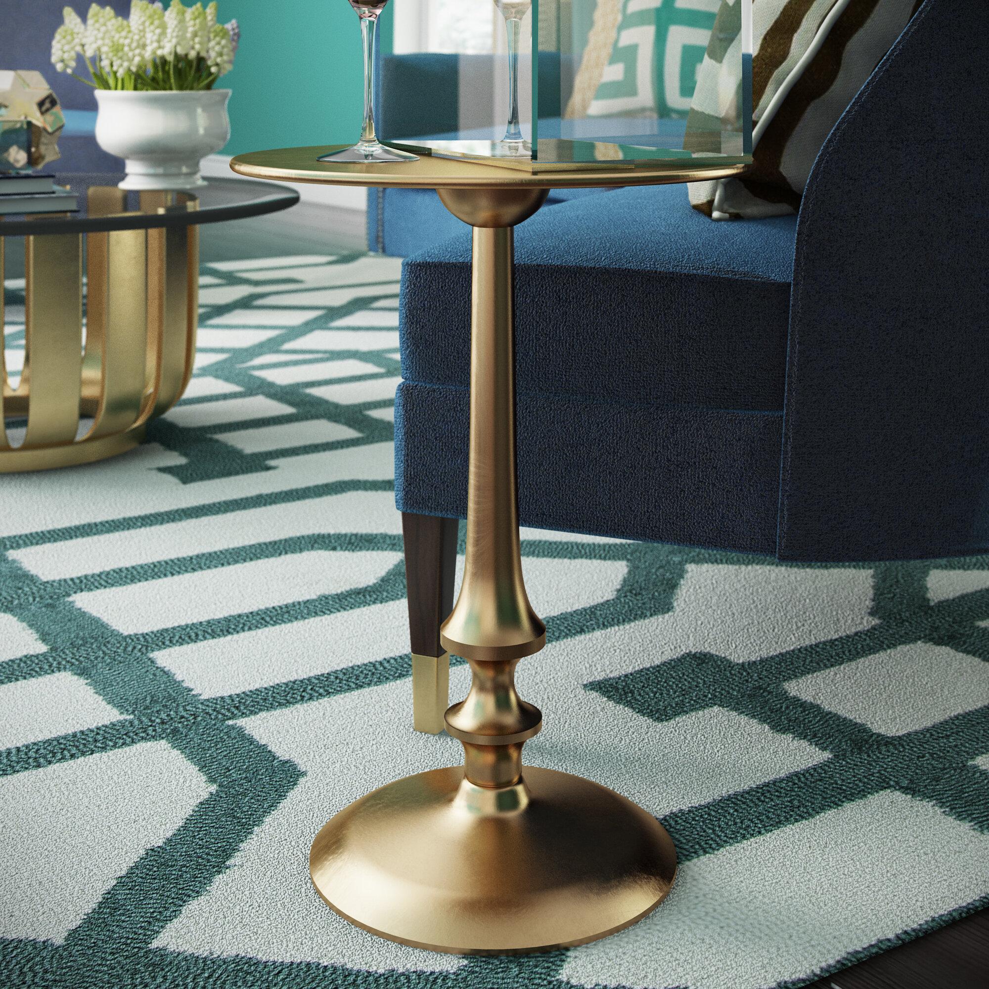 Dealba Pedestal End Table