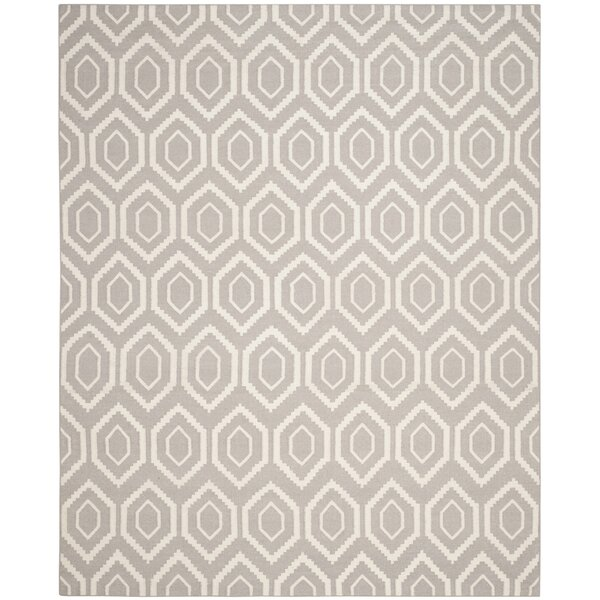 Cassiopeia Hand-Woven Gray/Ivory Area Rug by Mercury Row