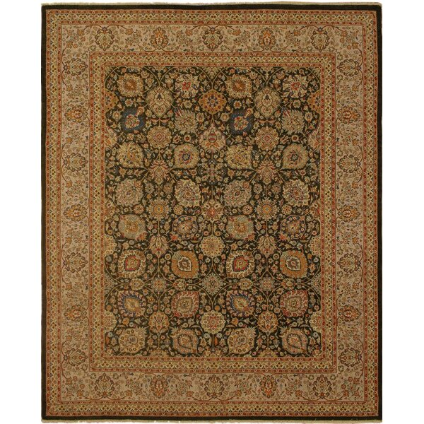 Clerkin Hand Knotted Rectangle Wool Brown/Green Area Rug by Astoria Grand