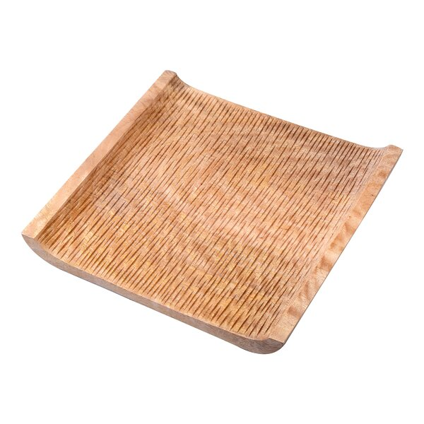 Kavia Hand Carved Square Decorative Serving Tray by World Menagerie