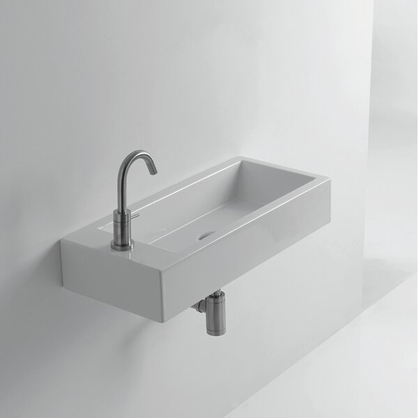 Whitestone Hox Ceramic 18 Wall Mount Bathroom Sink by WS Bath Collections