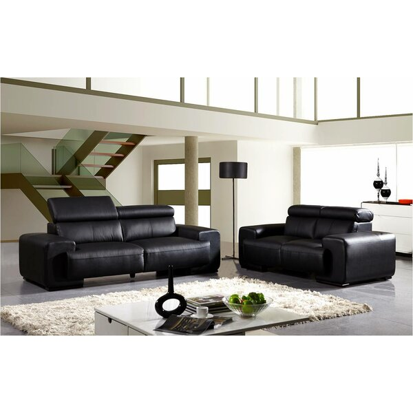2 Reclining Piece Living Room Set by David Divani Designs