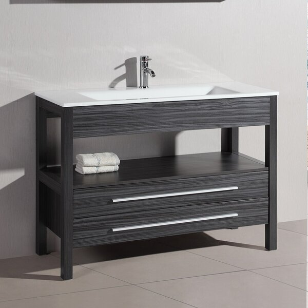 Maxine 48 Single Vanity Set with Mirror by Orren Ellis