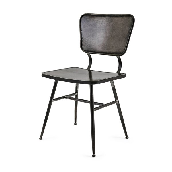 Jiron Metal Side Chair In Black And Bronze By Williston Forge