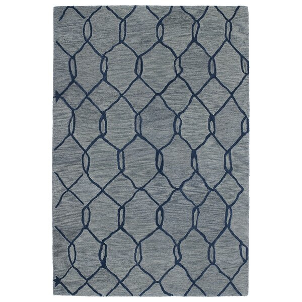 Zack Light Blue Geometric Rug by Wrought Studio