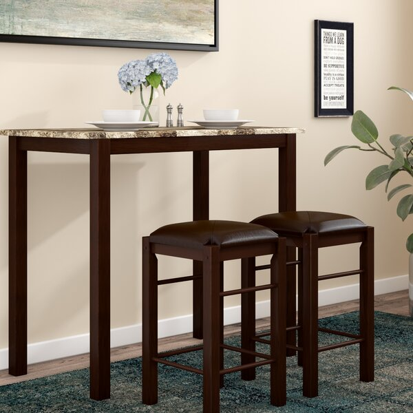 Penelope 3 Piece Counter Height Wood Dining Set by Winston Porter