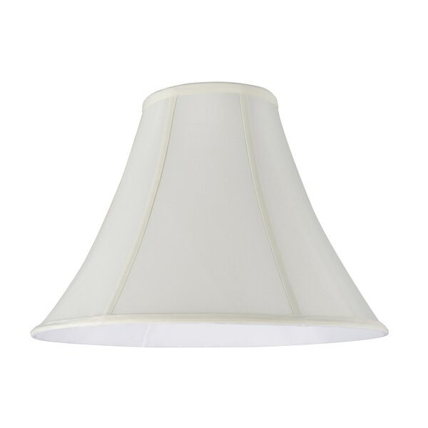 12 H Faux Silk Fabric Bell Lamp Shade ( Spider ) in Off-White