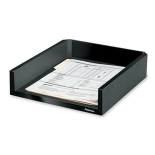 Letter Tray, Holds Letter/A4 Paper, 11-1/8x13x2-1/2, Black by Fellowes Mfg. Co.