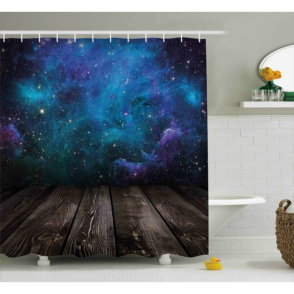 Space from Home View Shower Curtain by East Urban Home