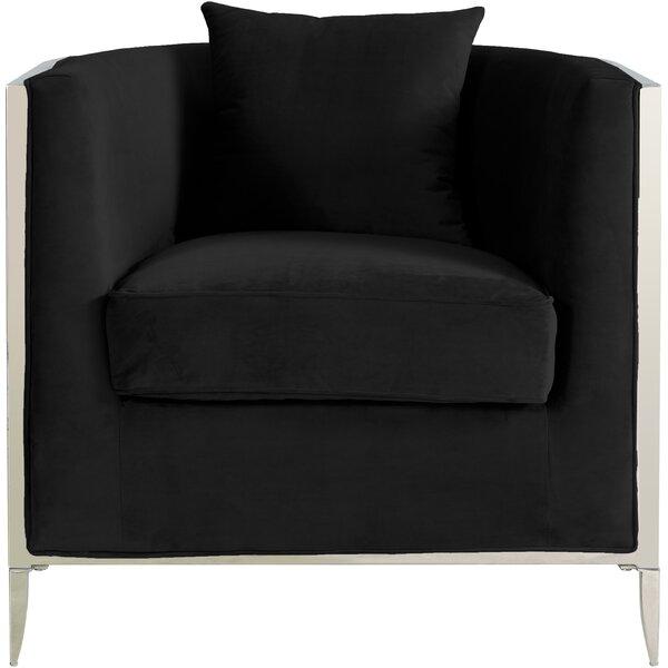 Parthenia Barrel Chair by Everly Quinn