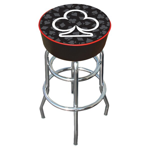 Four Aces Swivel Bar Stool by Trademark Global