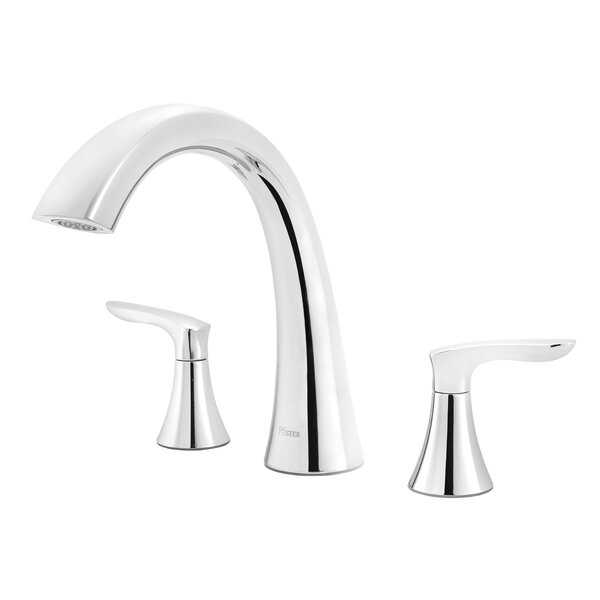 Weller Double Handle Deck Mounted Roman Tub Faucet Trim By Pfister