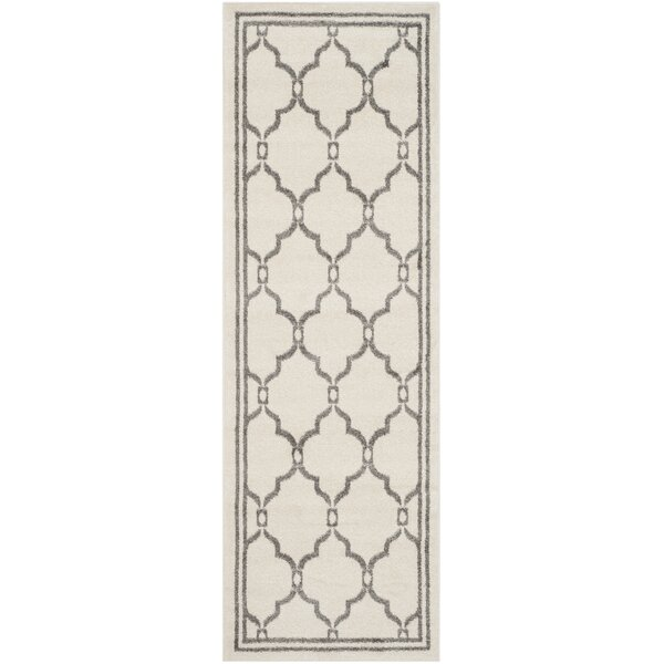 Wason Ivory/Grey Outdoor Area Rug by Three Posts