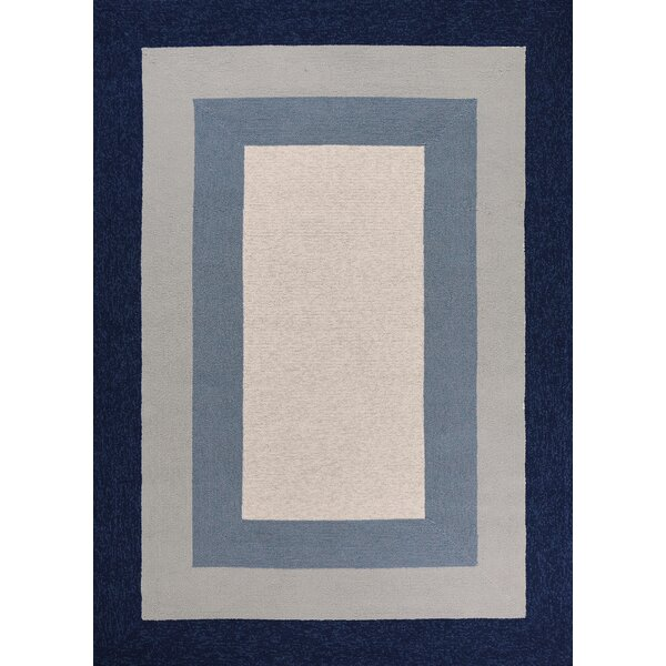 Hamptons Highview Hand-Hooked Slate/Navy Indoor/Outdoor Area Rug by Libby Langdon