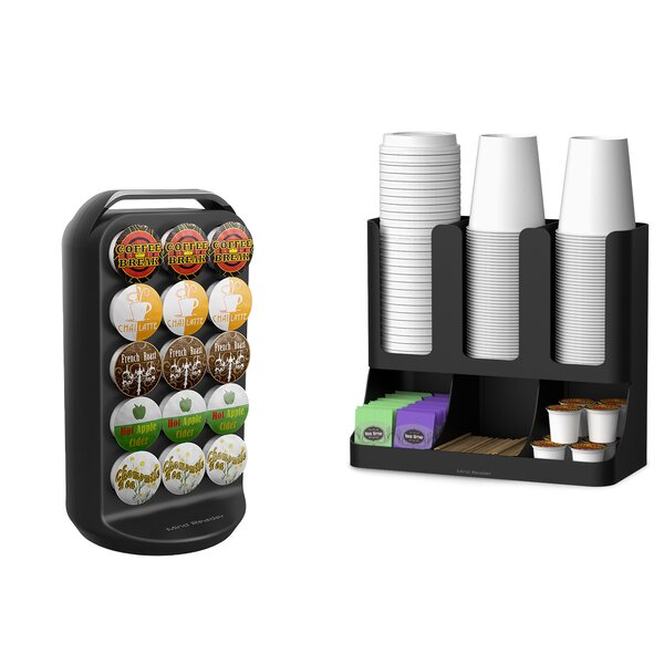 30 K-Cup Carousel and Coffee Condiment Caddy Organizer by Mind Reader