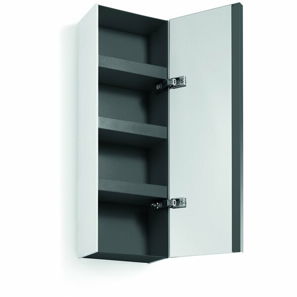 Scotia Door 10.4 W x 31.5 H Wall Mounted Cabinet with Mirror by Brayden Studio