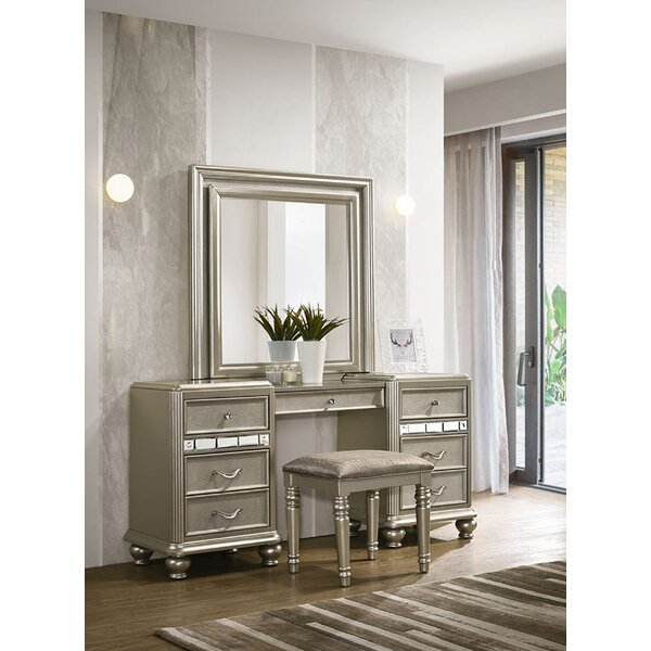 Drage Vanity with Mirror by Rosdorf Park