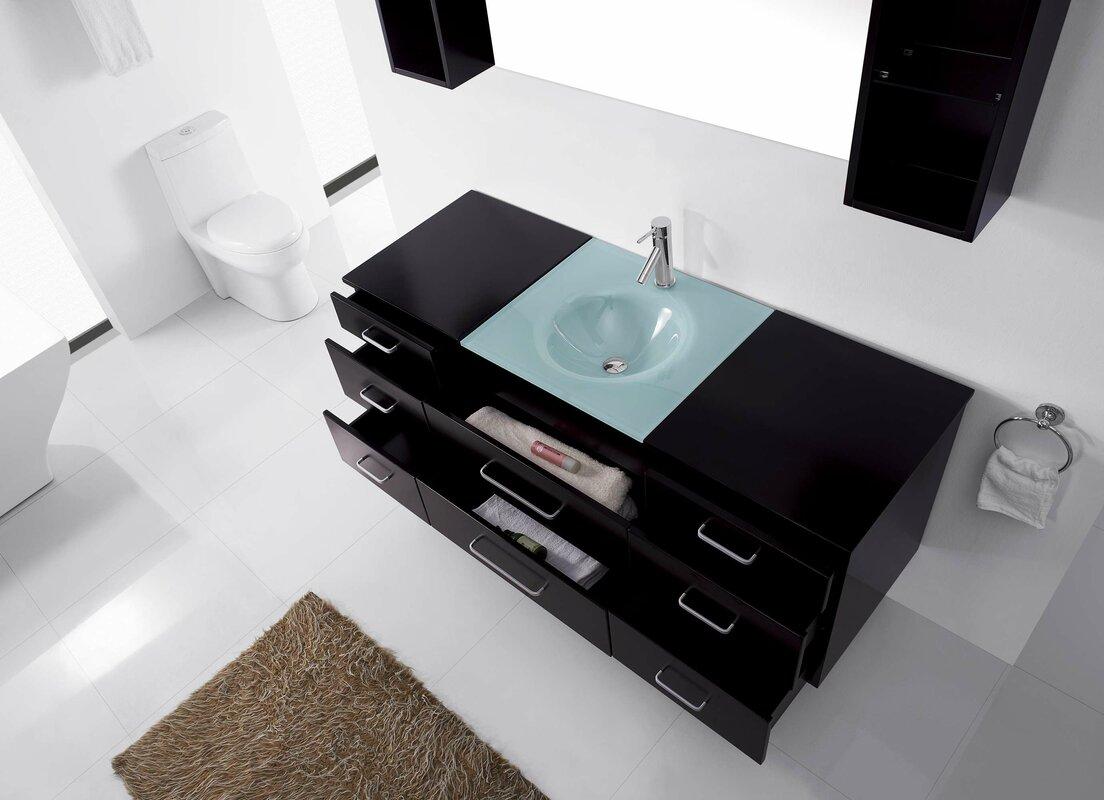 "Colombo 63"" Single Bathroom Vanity Set with Mirror"