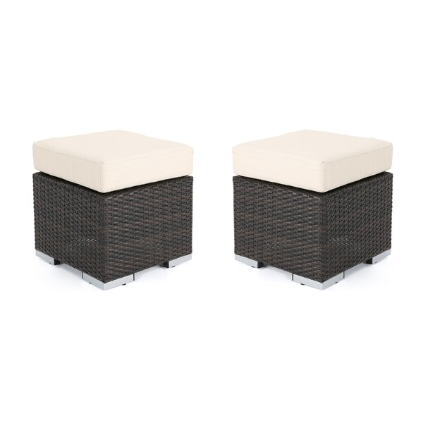 Cabral Ottoman with Cushion by Sol 72 Outdoor
