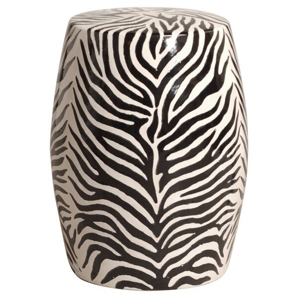 Babington Zebra Garden Stool by World Menagerie World Menagerie