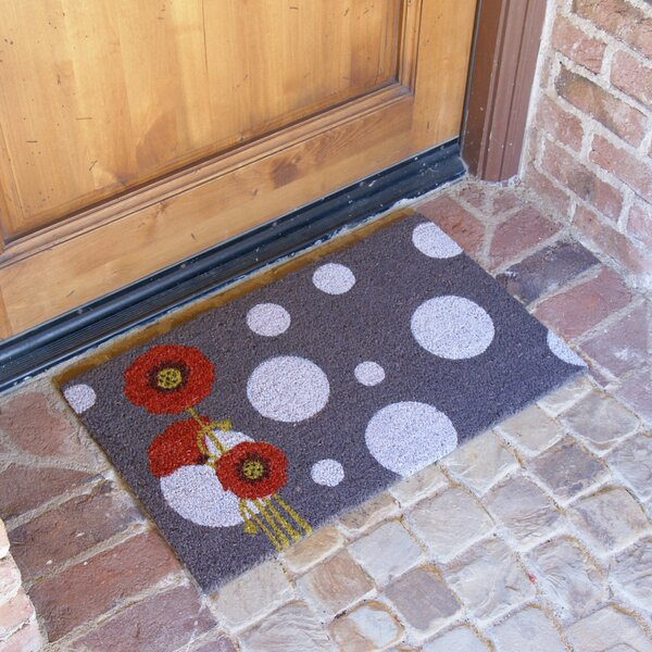 Rouge Contemporary Floral Doormat by Rubber-Cal, Inc.