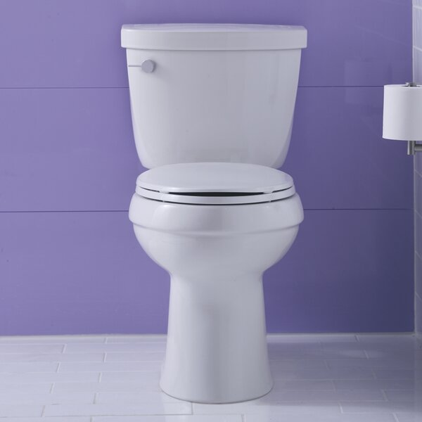 Cimarron Comfort Height Two-PieceToilet with Aquapiston Flush Technology and Left-Hand Trip Lever by Kohler