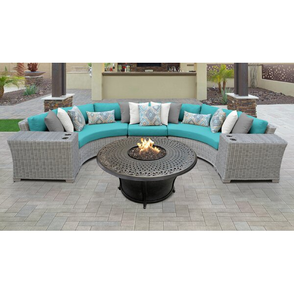 Coast 6 Piece Sectional Seating Group with Cushions by TK Classics