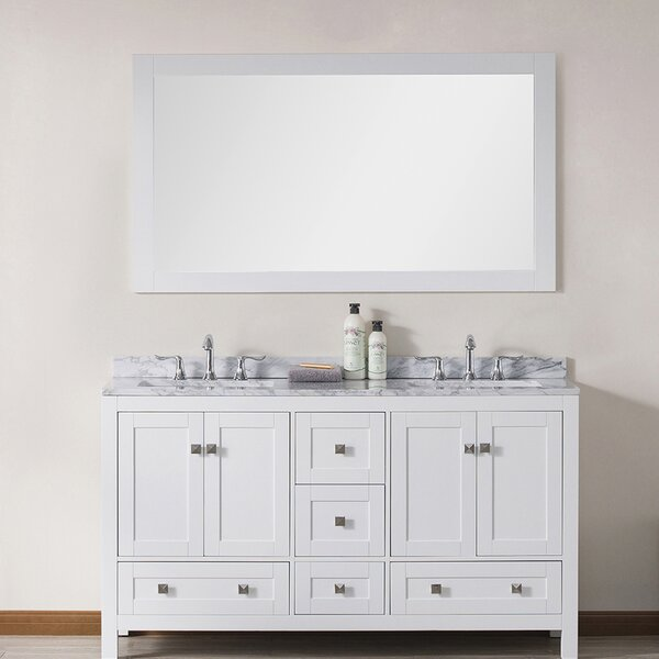 Brier 60 Double Bathroom Vanity Set with Mirror by Wrought Studio