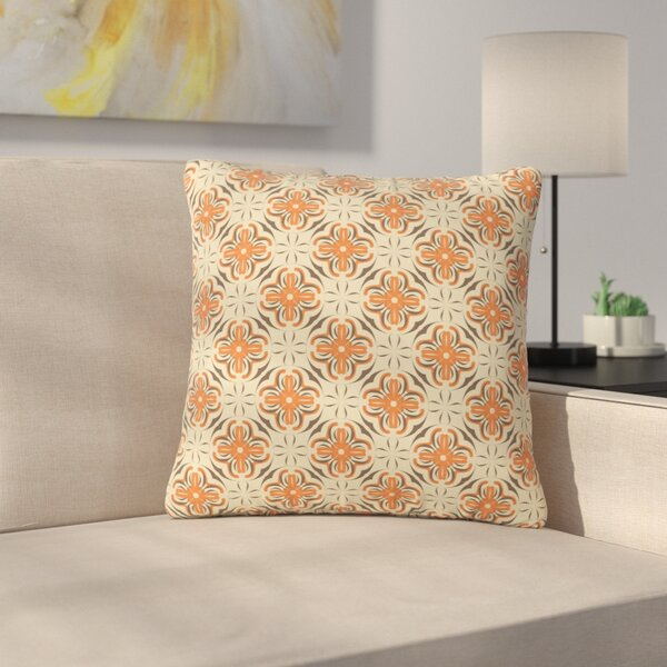 Mayacoa Studio Geometric Tile Geometric Outdoor Throw Pillow by East Urban Home