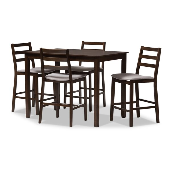 Hester Street 5 Piece Pub Table Set by Charlton Home