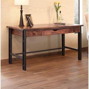 Hundt Wood Desk With Iron Leg