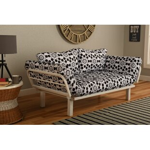 Everett Convertible Lounger in Well Rounded Futon and Mattress