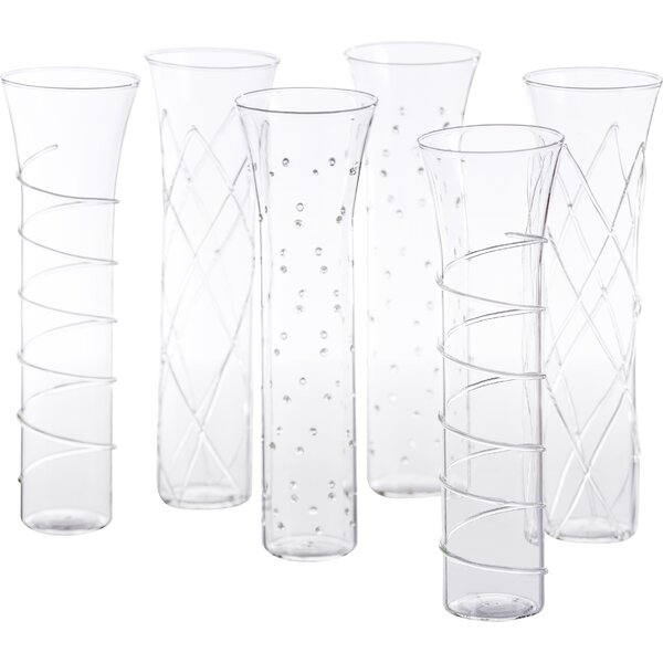 Razzle Dazzle 6 Piece Stemless Champagne Set by Ab