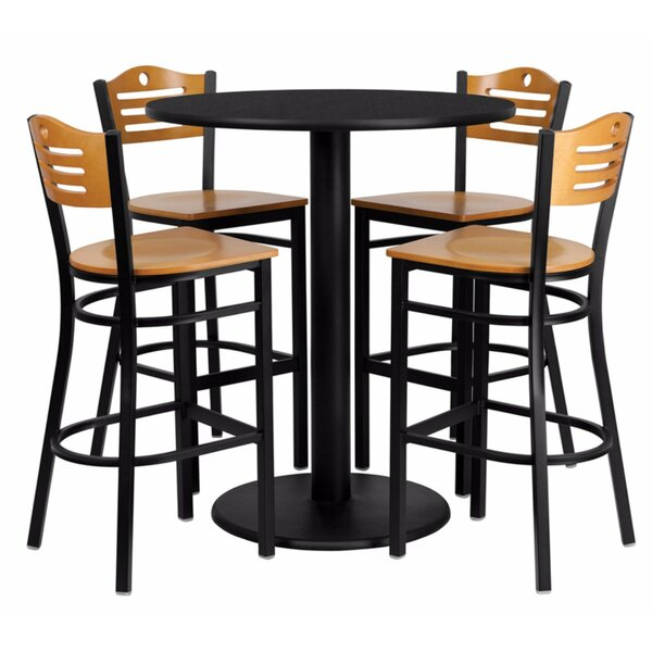 Hardesty Round Laminate 5 Piece Pub Table Set by Red Barrel Studio