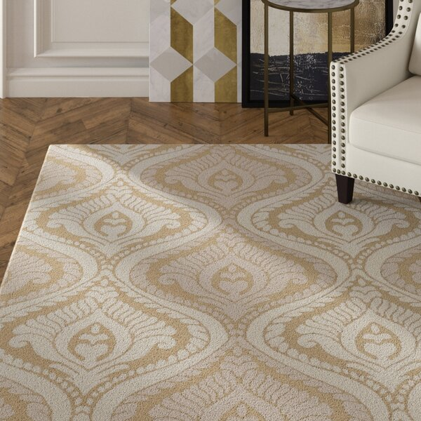 Langevin Straw/Ivory Area Rug by House of Hampton