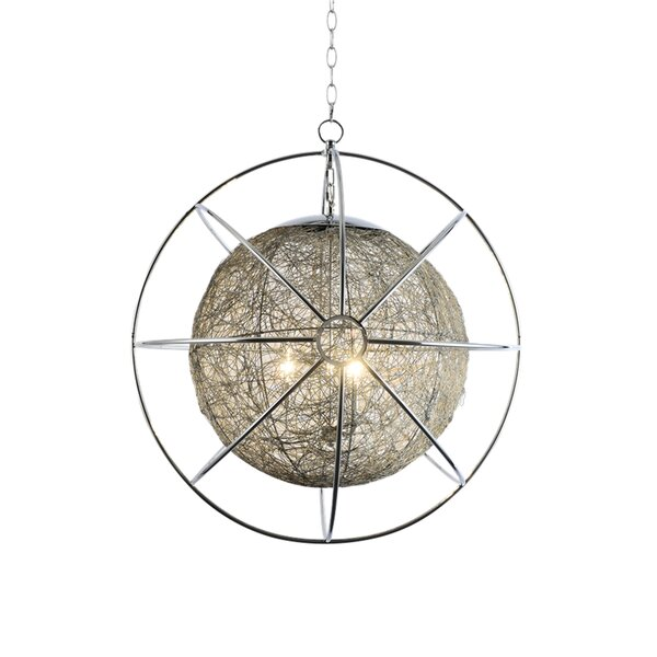 Bayview 3-Light Unique / Statement Globe Chandelier by Brayden Studio Brayden Studio