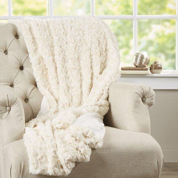Bursaite Faux Fur Throw by House of Hampton