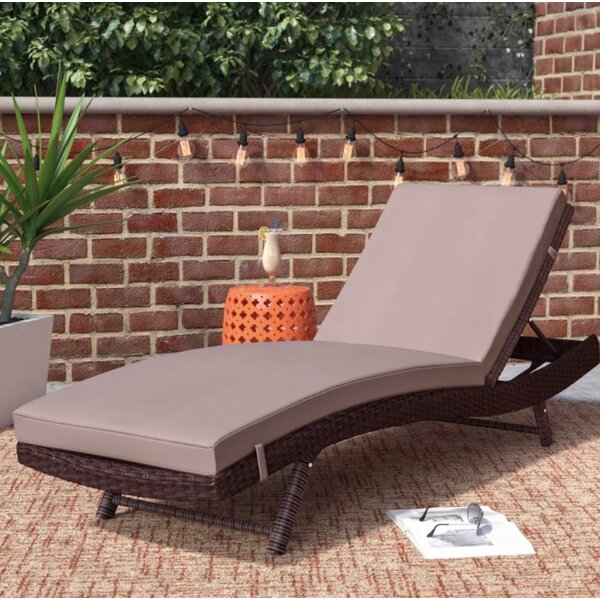 Prudence Reclining Chaise Lounge with Cushion by Mercury Row