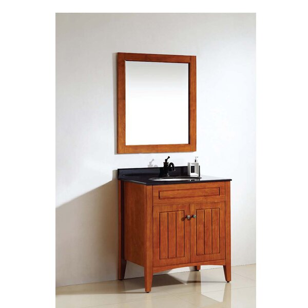 American 30 Single Bathroom Vanity Set with Mirror by Dawn USA