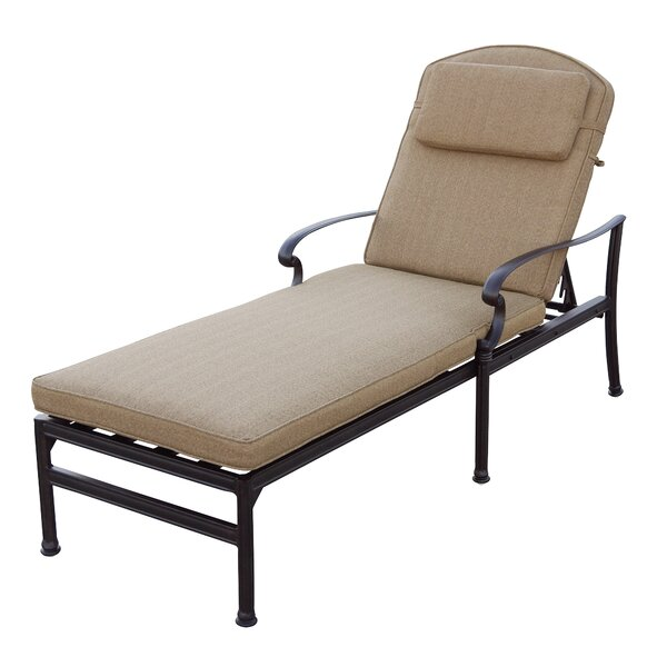 Palazzo Sasso Patio Sun Lounger Set with Cushion and Table by Astoria Grand Astoria Grand