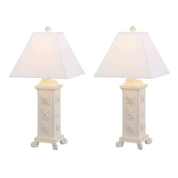 Emmy Seashell Table Lamp (Set of 2) by Highland Dunes