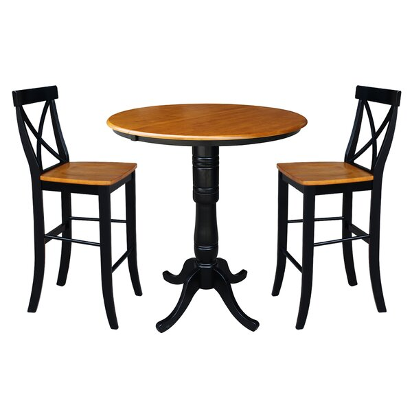 LePage Extendable 3 Piece Pub Table Set By August Grove