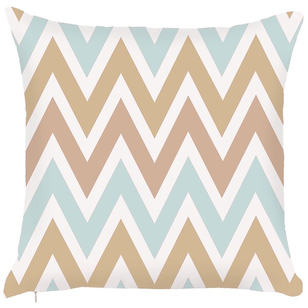 Costal Zigzag Throw Pillow by Debage Inc.