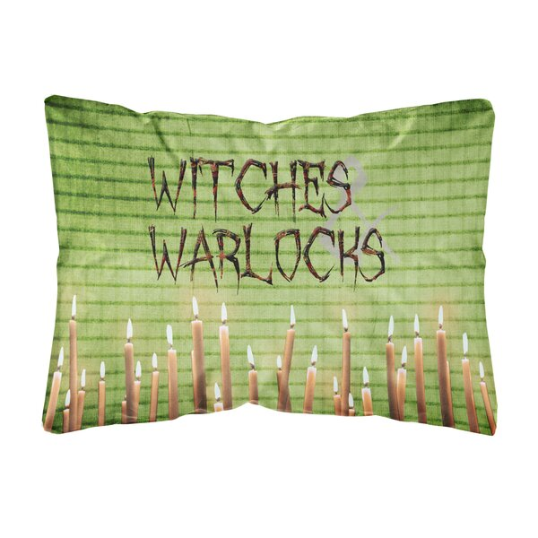Witches and Warlocks Halloween Indoor/Outdoor Throw Pillow by Caroline's Treasures
