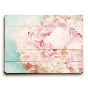 'Delicate Peony' Rectangle Graphic Art Print on Wood by Ophelia & Co.