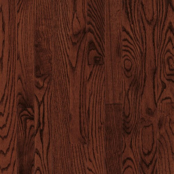 Dundee 2-1/4 Solid Red / White Oak Hardwood Flooring in Cherry by Bruce Flooring
