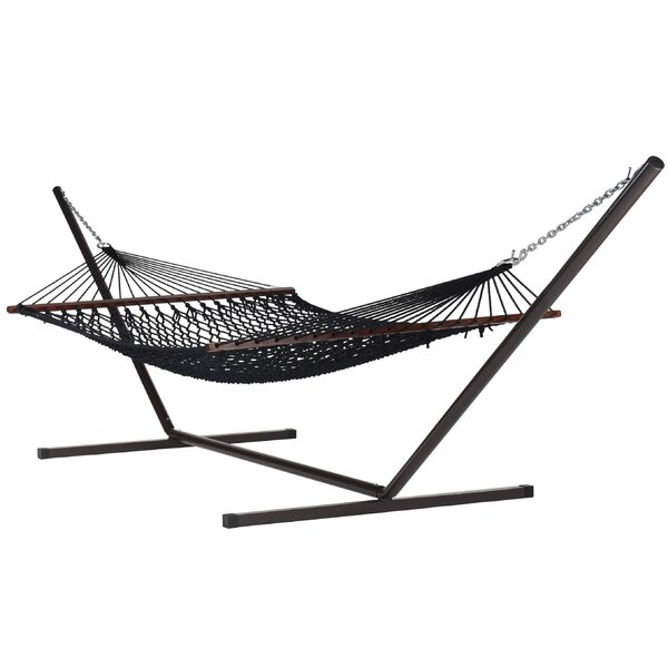 Blanco Double Spreader Bar Hammock with Stand by Highland Dunes